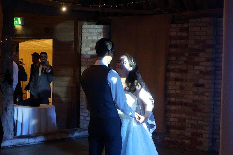 Lowri & Chris's Wedding Reception at The Red Barn with CambridgeshireDisco.com